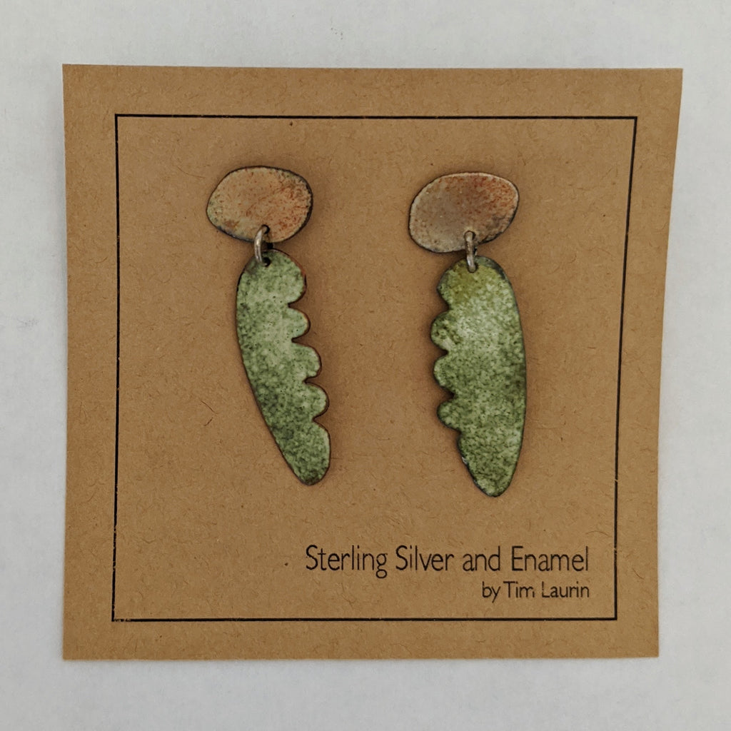 Enamel Earring (multi piece construction)