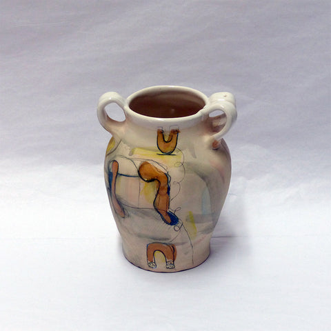 White Jar with Handle