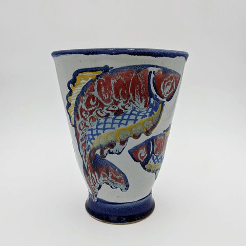 Medium Vase Red Fish Motif