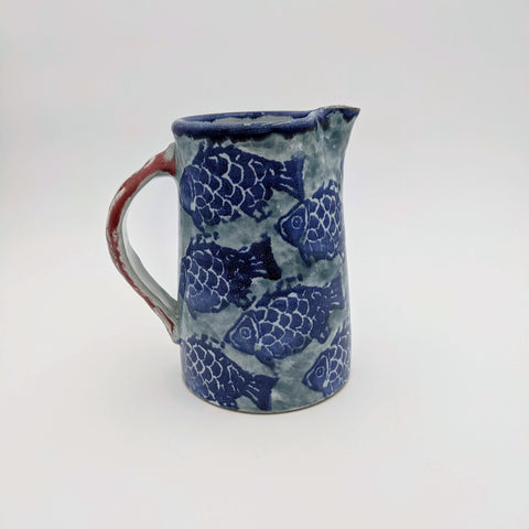 Medium Pitcher Fish Motif