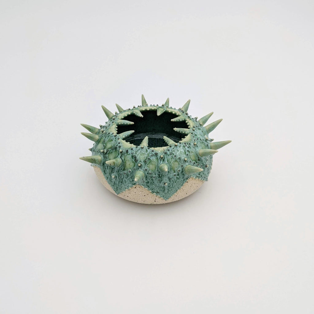 White Urchin Vessel