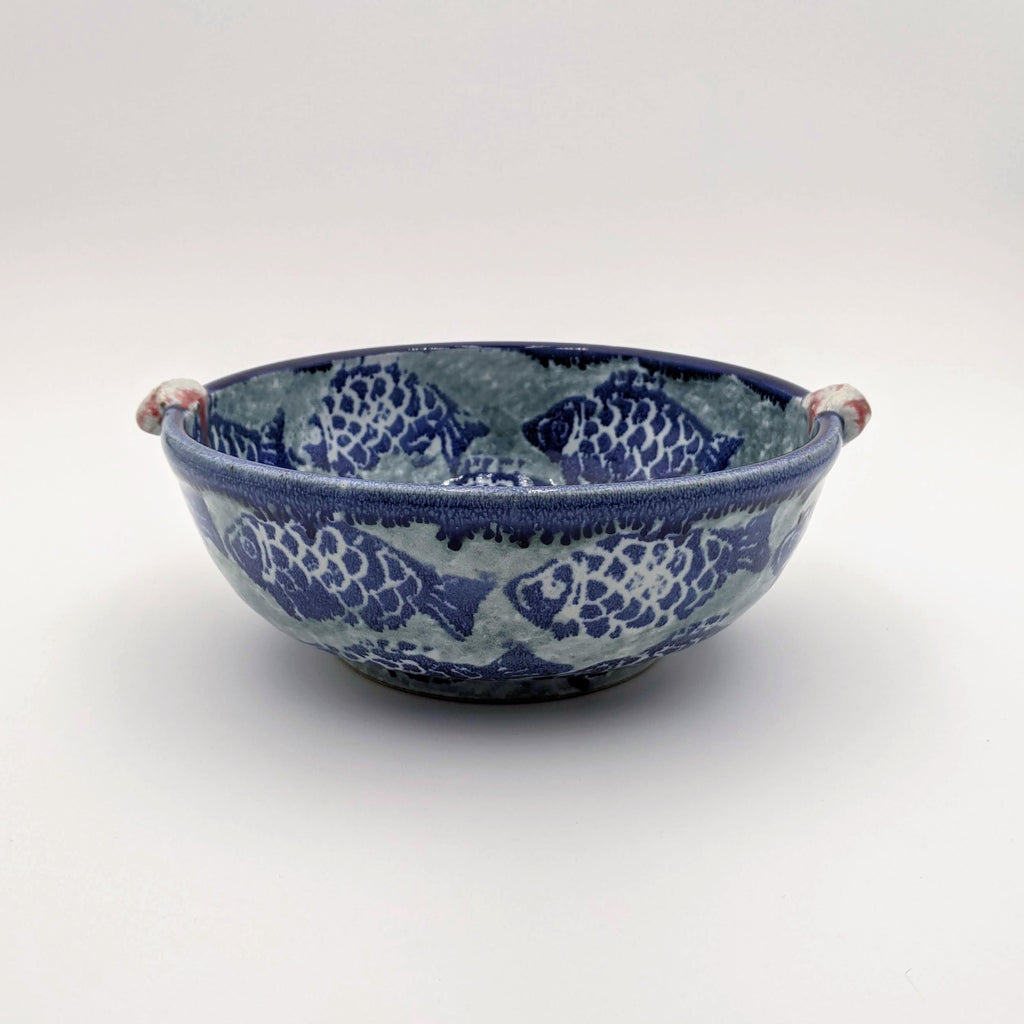 Medium Bowl w/Handles Fish