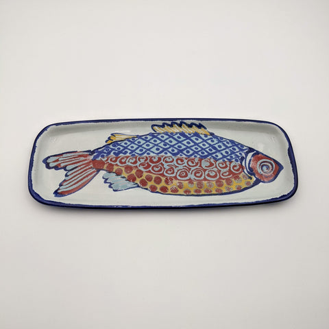 Medium Rectangular Tray Red Fish