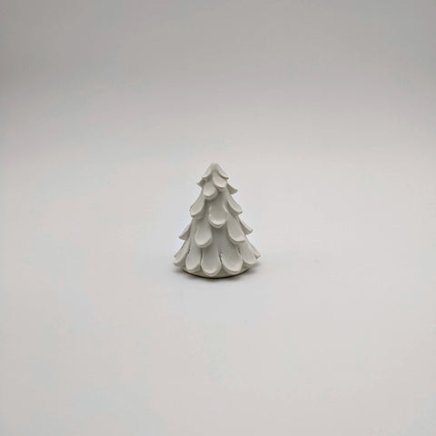 "Tree 3"" White satin"