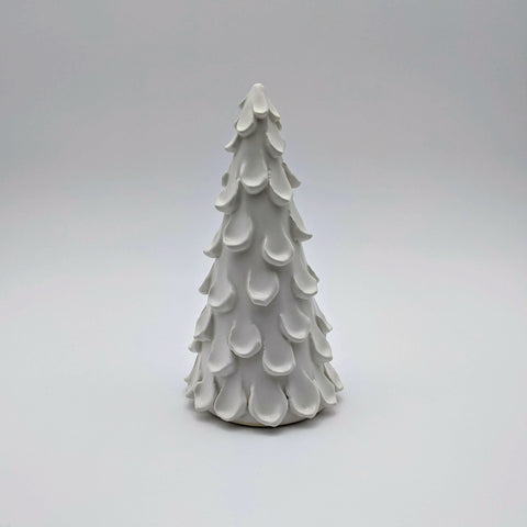 "Tree 8"" White satin"
