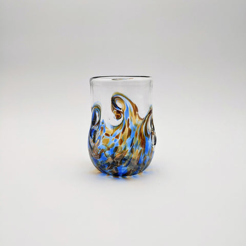 Twisty Cup Blue and Amber