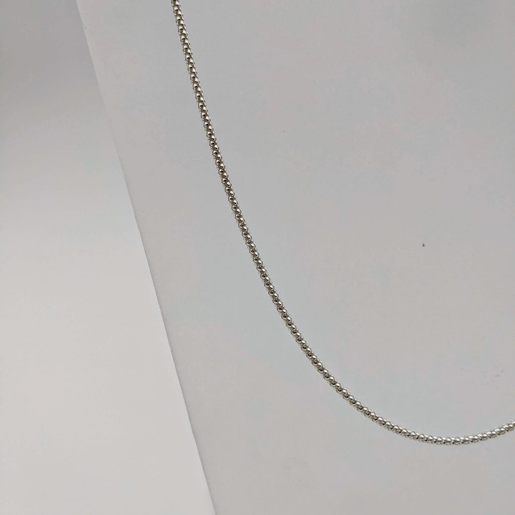 "#09 18"" Sterling: 2mm Italian Textured Chain"