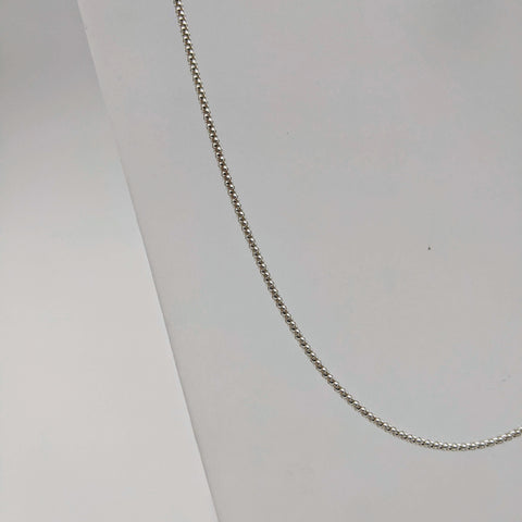 "#08 18"" Sterling: 2mm Italian Textured Chain"