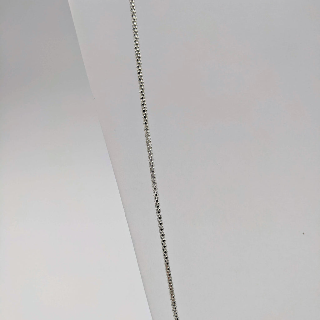 "#011 24"" Sterling: 2mm Italian Textured Chain"
