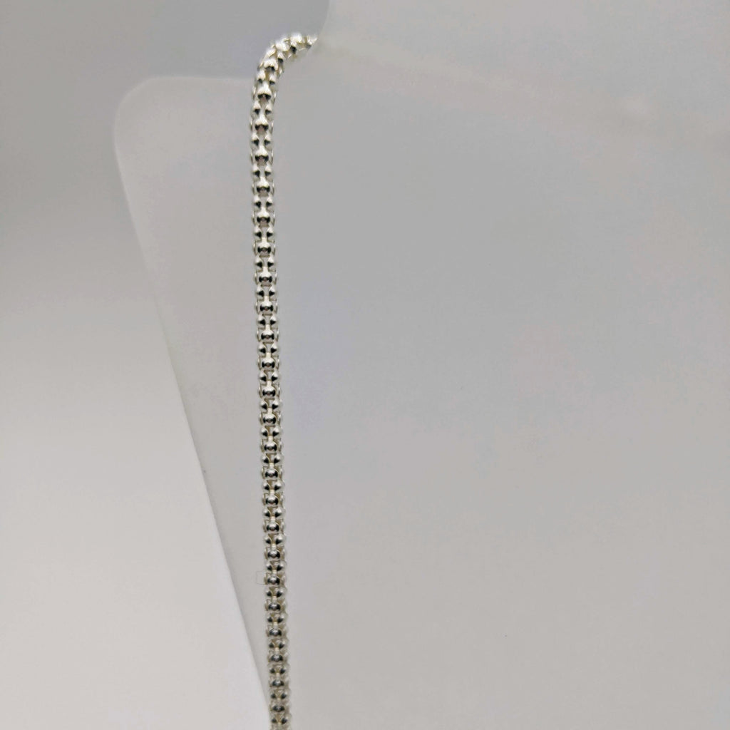 "#017 24"" Sterling: 3mm Italian Textured Chain"