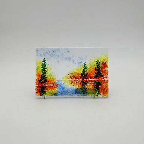 "Tree Reflection 4x6"" red/fall"