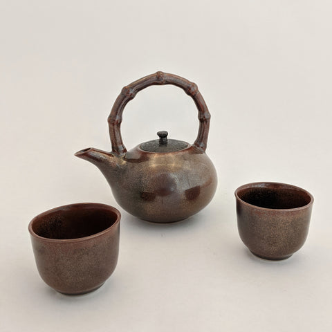 Small Teapot Set, Brown