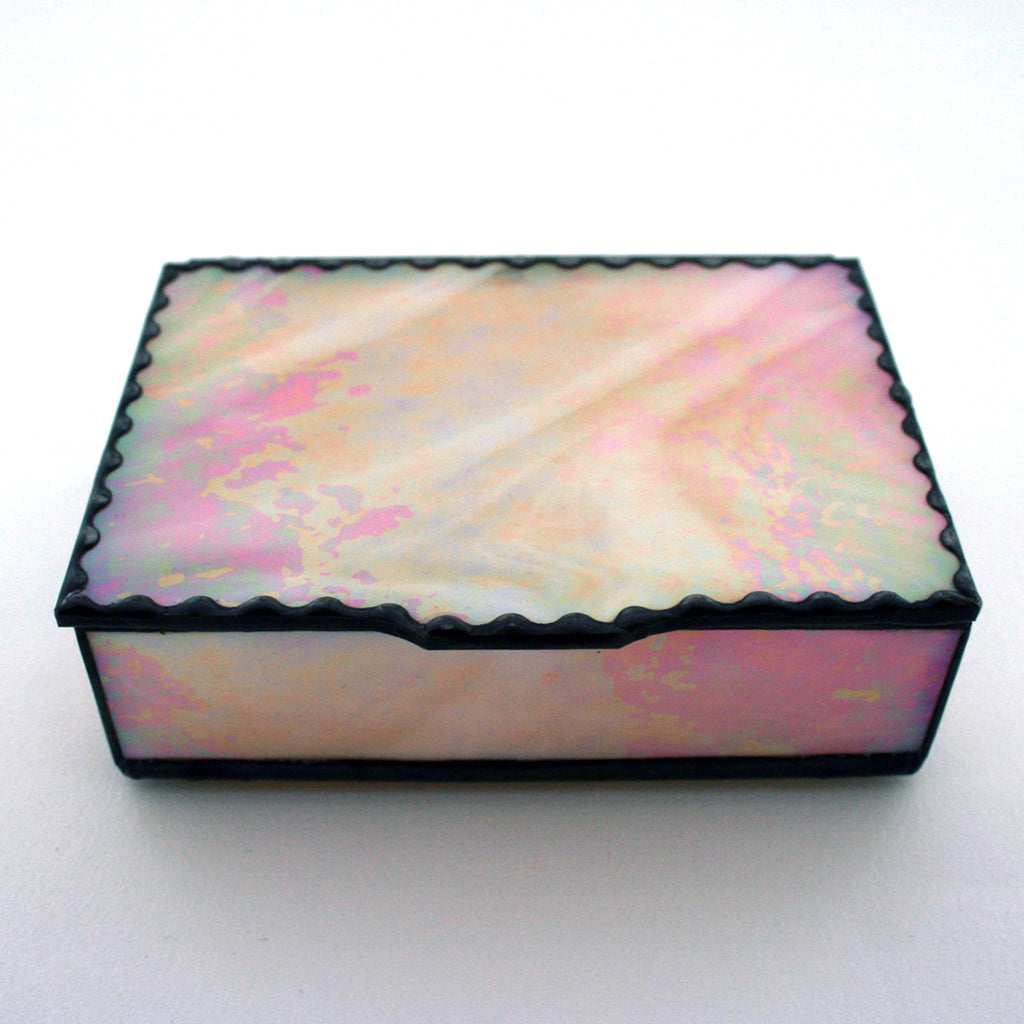 Stained Glass Box: Iridescent Pink