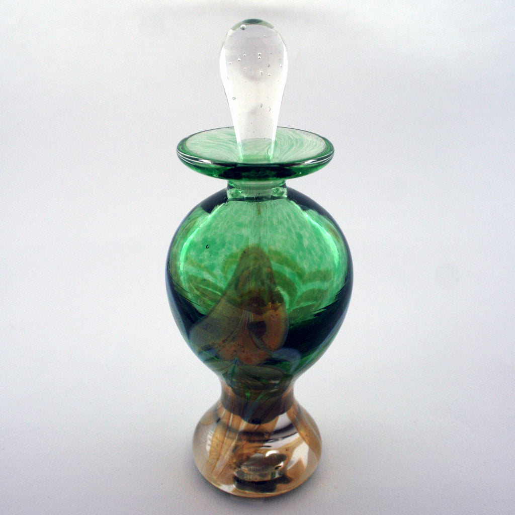 Perfume Bottle-Feather, Green (1740)