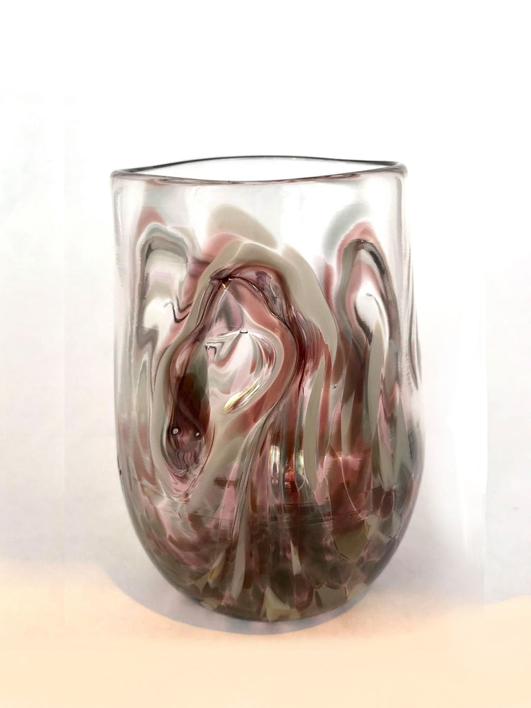 Twisty Cup- Aubergine and Grey