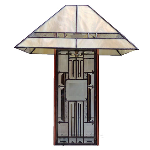 Stained Glass Lamp, Beveled Shade