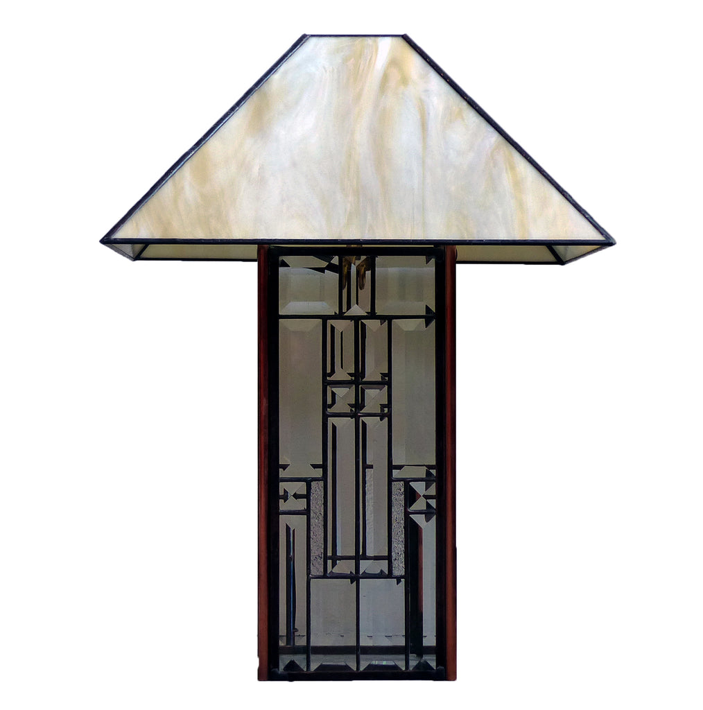 Stained Glass Lamp, Plain Shade
