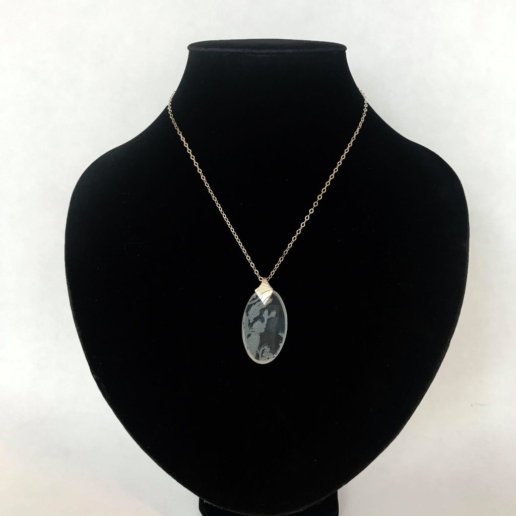 Oval Glass Pendant Necklace