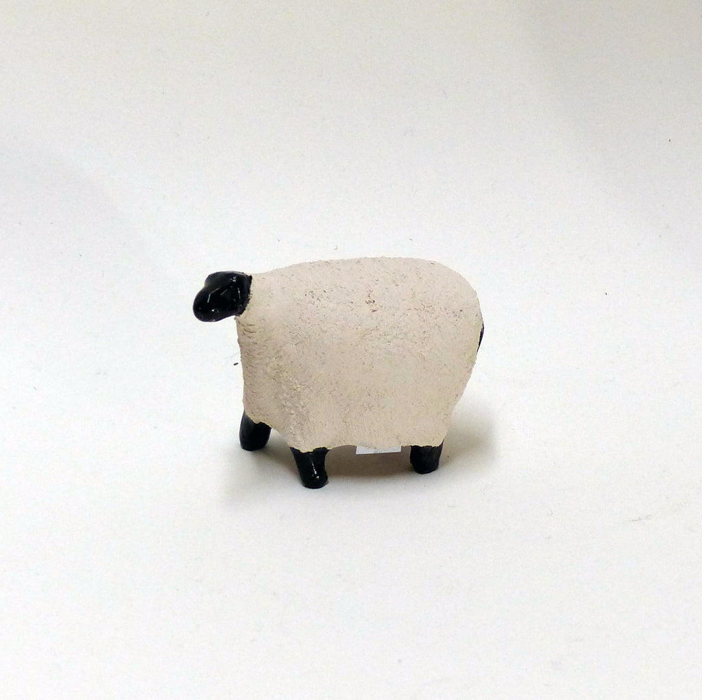 White Miniature Raku Sheep