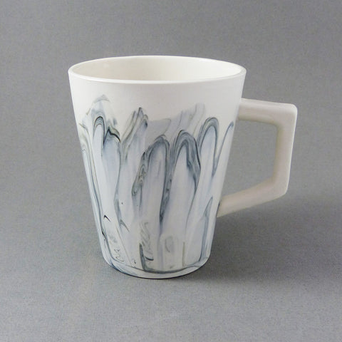 Marbled Coffee Cup, Monochrome