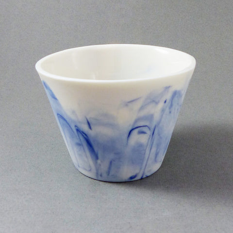 Marbled Short Tumbler (Blue/White)
