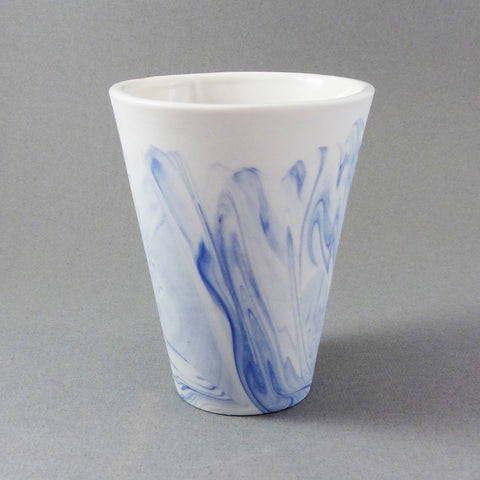 Marbled Tumbler (Blue/White)