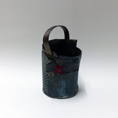Sculptural Basket with Red 'X'