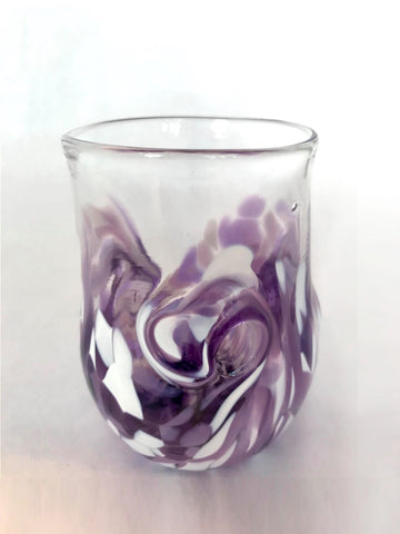 Twisty Cup- Purple and White