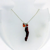 Necklace, Coral Fob, Carnelian