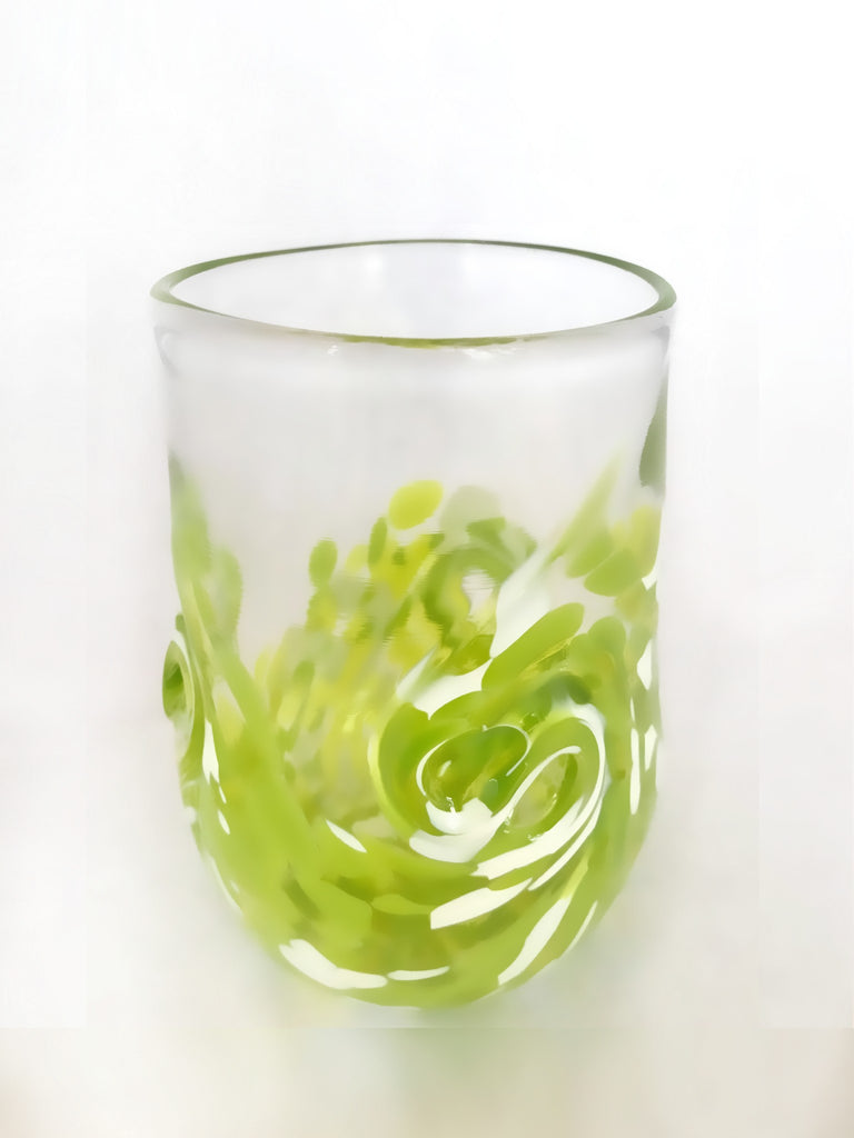 Twisty Cup- Lime and White