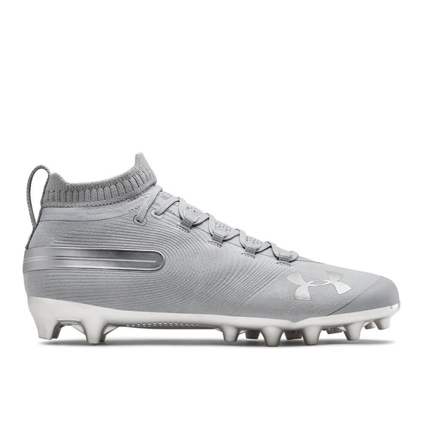UA MENS SPOTLIGHT SUEDE MC FOOTBALL CLEAT - GREY