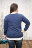 Plus Size Navy Long Sleeve Sweater