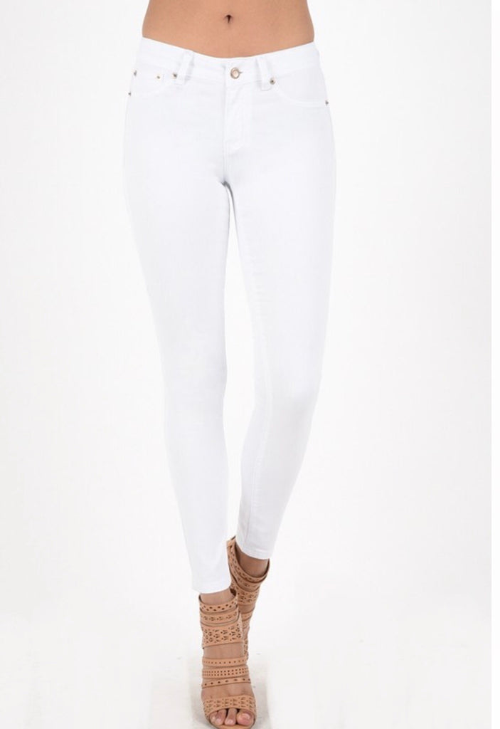 Hammer Collection Skinny White Denim Jeans