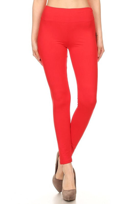 The BEST Leggings-NEON CORAL-ONE SIZE