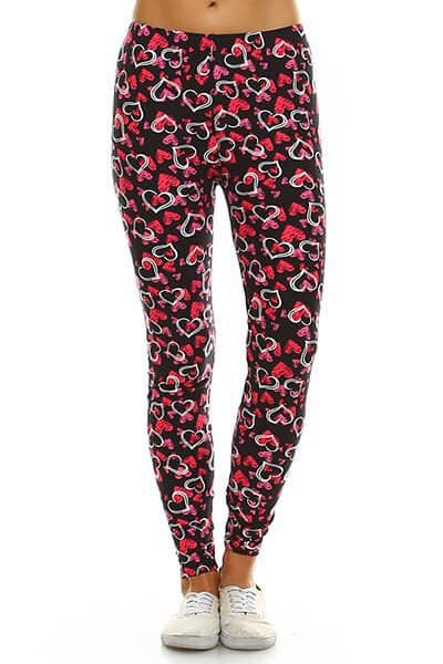 The BEST leggings - Hearts - ONE SIZE PLUS
