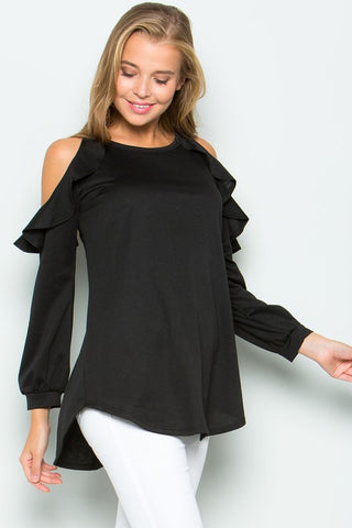 Cold Should Ruffle Tunic Top