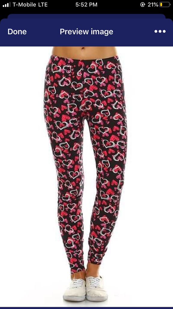 The BEST leggings - Hearts - ONE SIZE