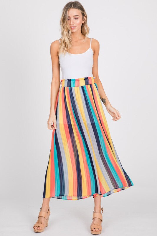 Princess Palazzo Striped Crop Pants