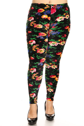 The BEST Leggings-FLORAL PLUS SIZE