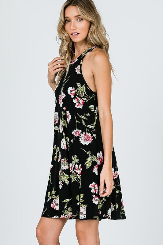 Summer Lovin' Open Back Halter Dress