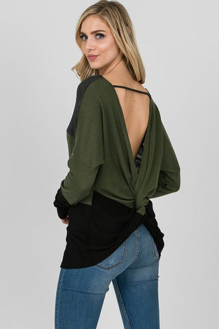 Lucille Color Block Flannel Top
