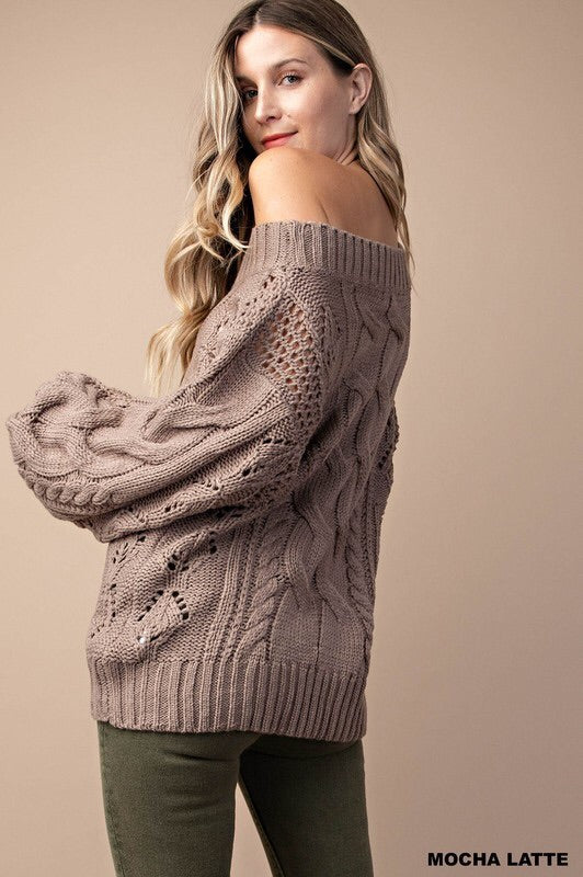 Amelia Puff Sleeve Sweater