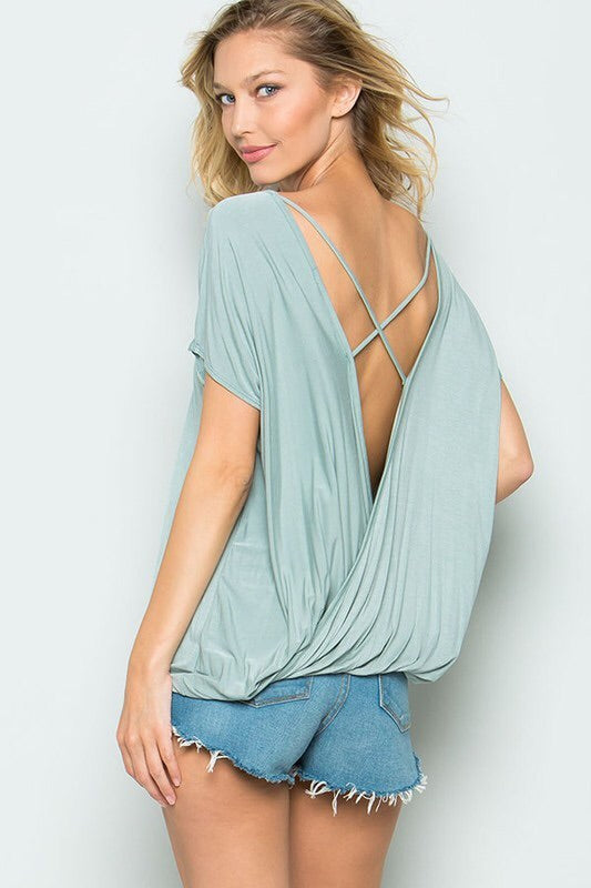 The Best Basic Open Back Tee; Mint