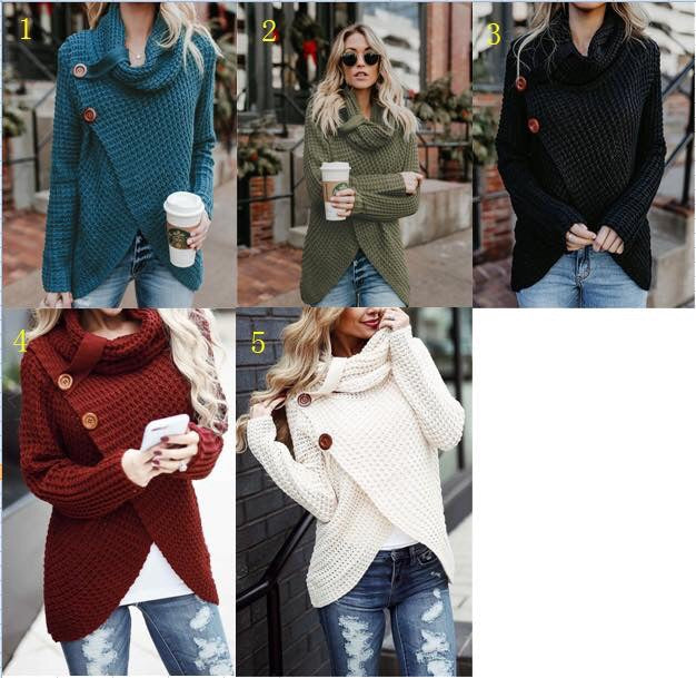Double Buttoned Split Front Sweater