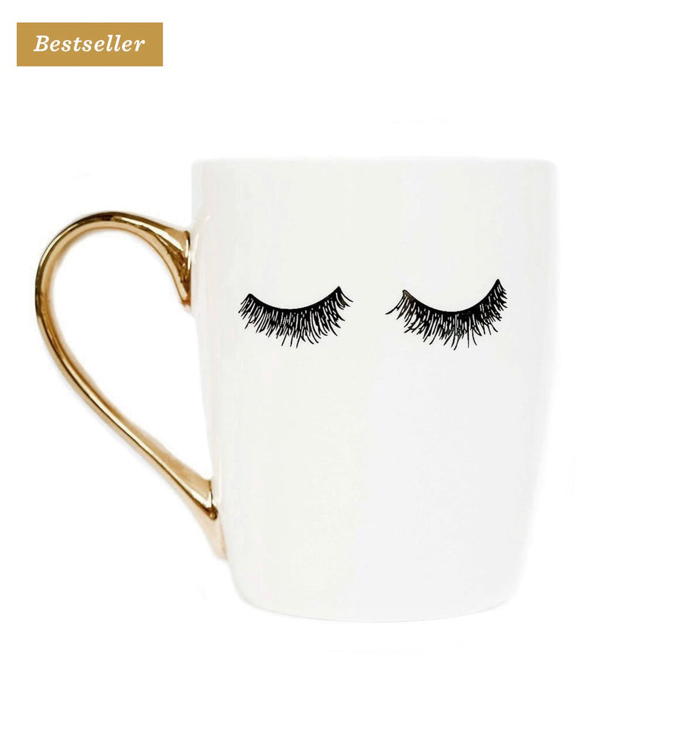 White Eyelashes Coffee Mug