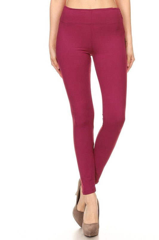 The BEST Leggings-BERRY ONE SIZE