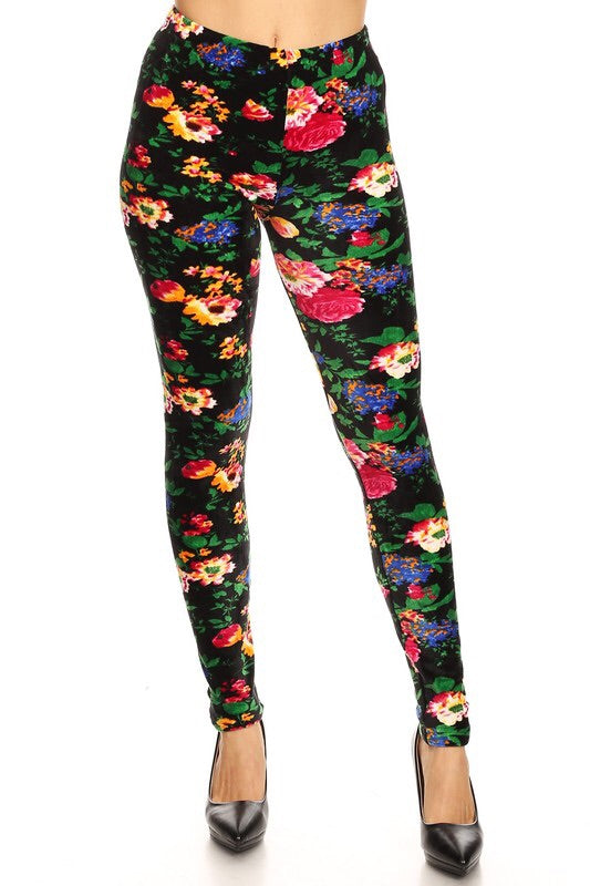 The BEST Leggings-FLORAL ONE SIZE