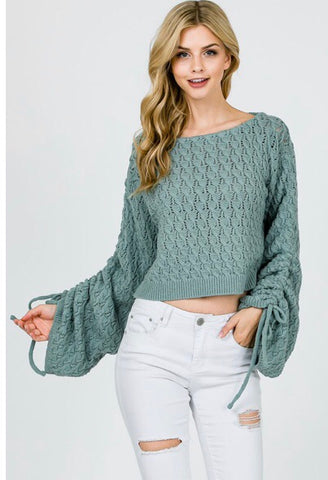 Baylie Tie Sleeve Crop Top