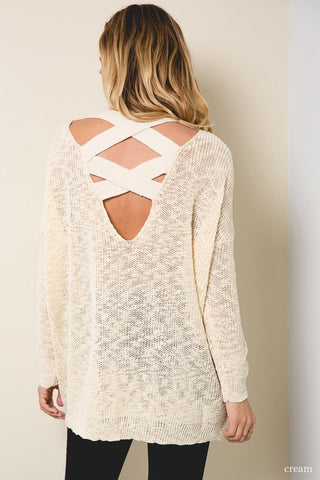 Madison Cross Back Sweater