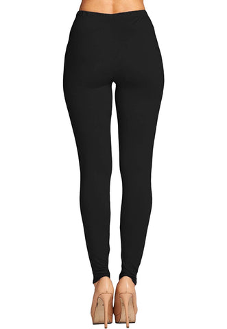 Solid Black Leggings-ONE SIZE